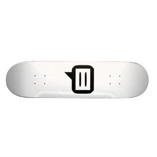 Talking Bubble Custom Skate Board