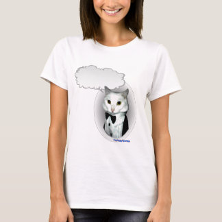 Talking Cat in Tux T-Shirt
