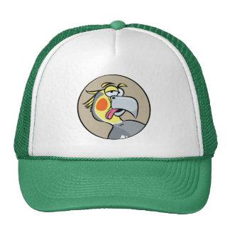 Talking Cockatiel Parrot Trucker Hat