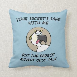 Talking Cockatoo Parrot Throw Pillow