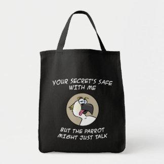 Talking Cockatoo Parrot Tote Bag
