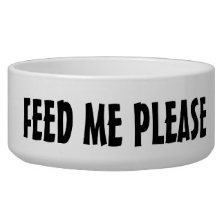 "TALKING DOG BOWL SAYS ""FEED ME PLEASE"""