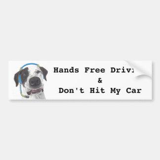 Talking Dog Hands Free Driving Bumper Sticker