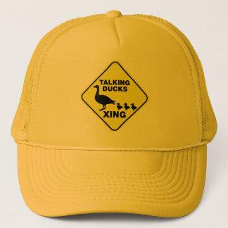 Talking Ducks Crossing Trucker Hat