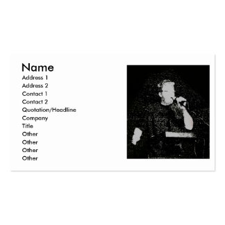 Talking figure black and white abstracted business card
