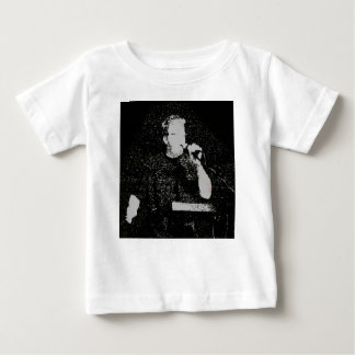 Talking figure black and white abstracted infant t-shirt