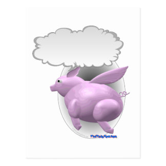 Talking Flying Pig Postcard