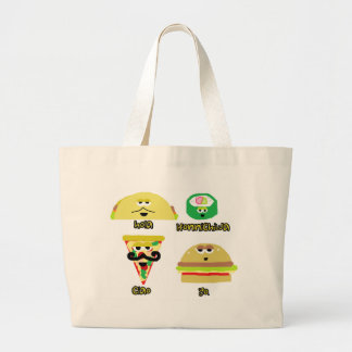 Talking Food Large Tote Bag