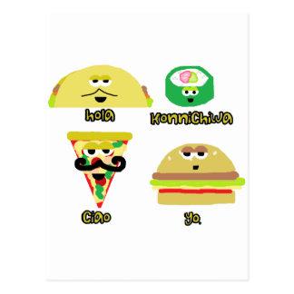 Talking Foods Postcard