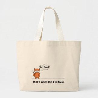 Talking Fox Jumbo Tote Bag