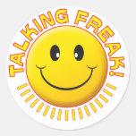 Talking Freak Smile Round Stickers