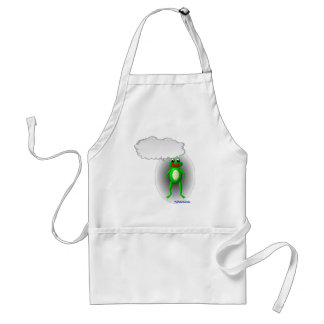 Talking Frog Characature Adult Apron