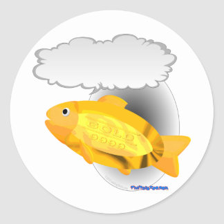 Talking Goldfish 24k Classic Round Sticker