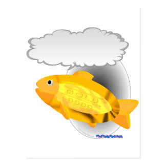Talking Goldfish 24k Postcard