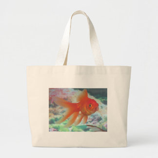 Talking Goldfish Large Tote Bag