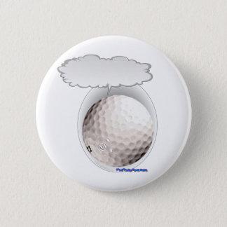 Talking Golf Ball Pinback Button