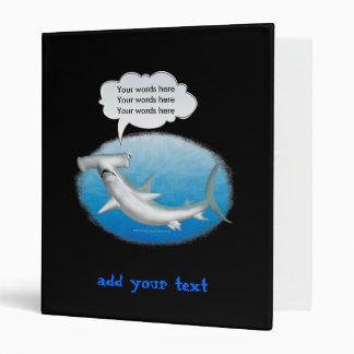 talking hammerhead shark binder