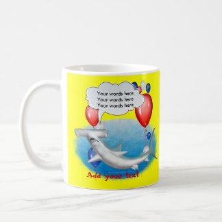 talking hammerhead shark coffee mug