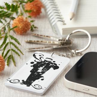 Talking Head Single-Sided Rectangular Acrylic Keychain