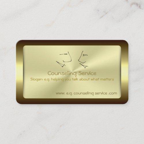 Talking Heads, Counselor, golden metallic-effect Business Card