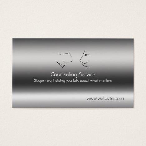 Talking Heads, Counselor, metallic-effect Business Card