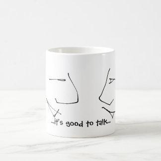 Talking Heads - it's good to talk motto / saying Coffee Mug