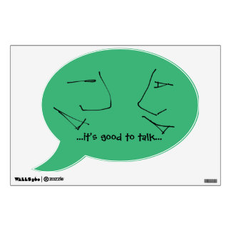 Talking Heads - it's good to talk motto / saying Wall Decal