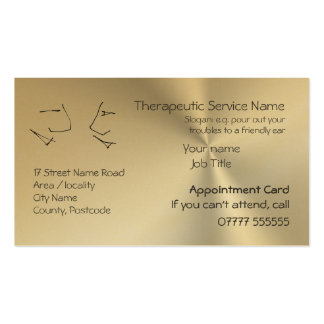 Talking Heads, Therapy Appointment Reminders Business Card