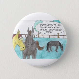 TALKING HORSE BUTTON