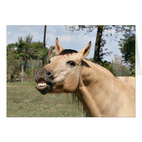 Talking horse card