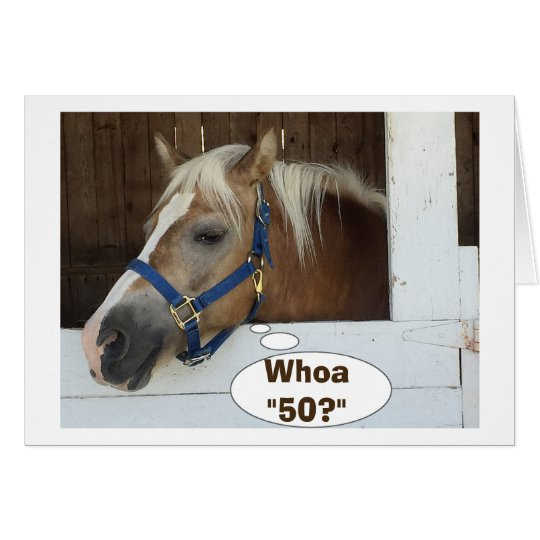 TALKING HORSE SAY WHOA50 HAPPY BIRTHDAY CARD – Talking Happy Birthday Cards