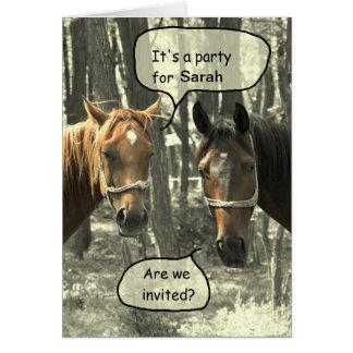 Talking Horses Birthday Party Invitation