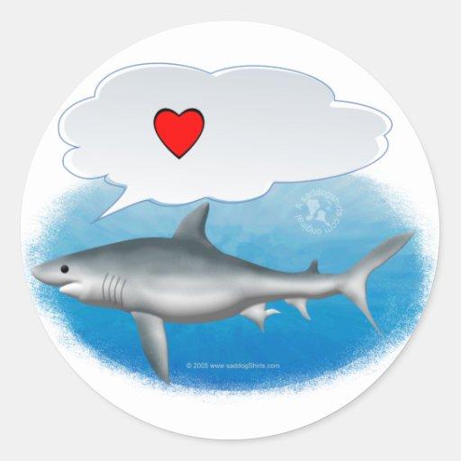"""Talking """"I heart"""" shark Sticker"""