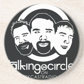 Talking in Circles Drink Coaster