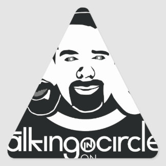 Talking in Circles Triangle Sticker