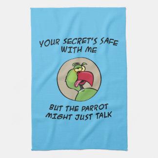 Talking Indian Ringneck Parrot Kitchen Towel