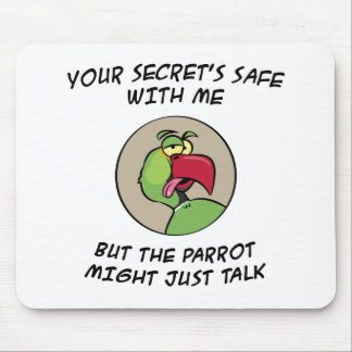 Talking Indian Ringneck Parrot Mouse Pad