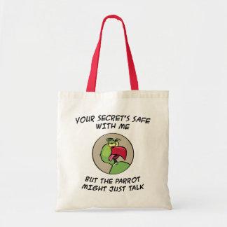 Talking Indian Ringneck Parrot Tote Bag