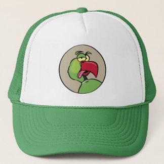 Talking Indian Ringneck Parrot Trucker Hat