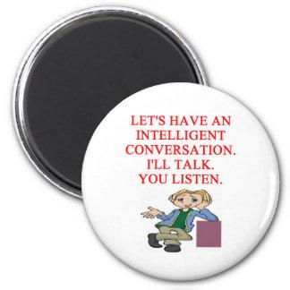 talking insult 2 inch round magnet