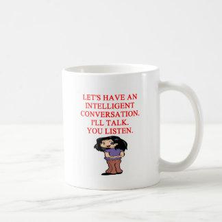 talking insult classic white coffee mug