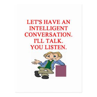 talking insult postcard