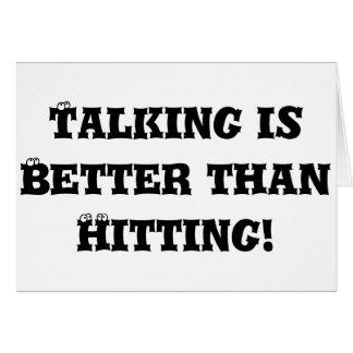 Talking is Better than Hitting - Anti Bully Card