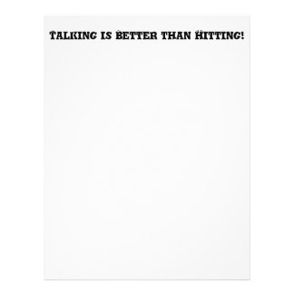 Talking is Better than Hitting - Anti Bully Personalized Flyer