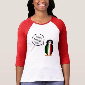 Talking Italian Penguin Flag T-shirt