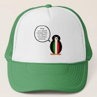 Talking Italian Penguin Flag Trucker Hat