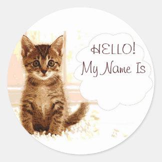 Talking kitten sticker