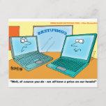 Talking Laptop Computer Cartoon
