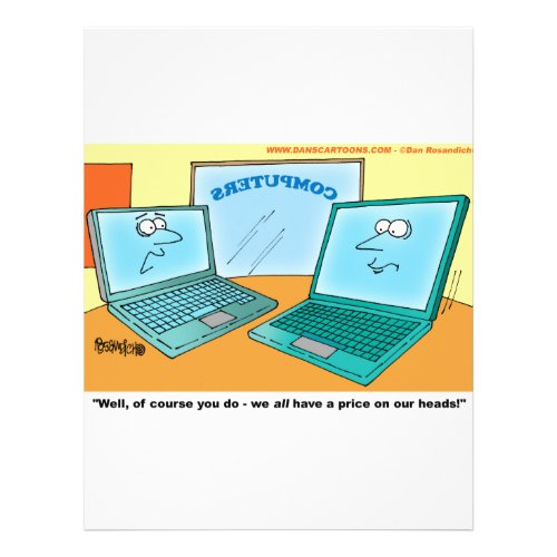 Talking Laptop Computer Cartoon flyer