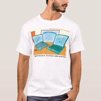 Talking Laptop Computer Cartoon T-Shirt